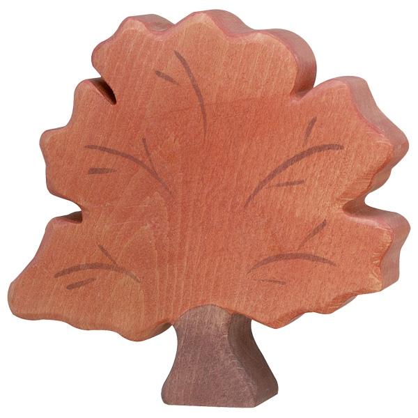 Figura legno Albero autunnale - Holztiger
