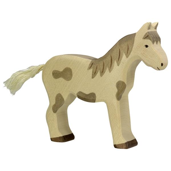 Figura legno Cavallo pezzato - Holztiger