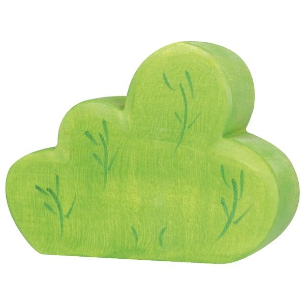 Figura legno Cespuglio verde - Holztiger