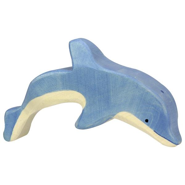 Figura legno Delfino che salta - Holztiger