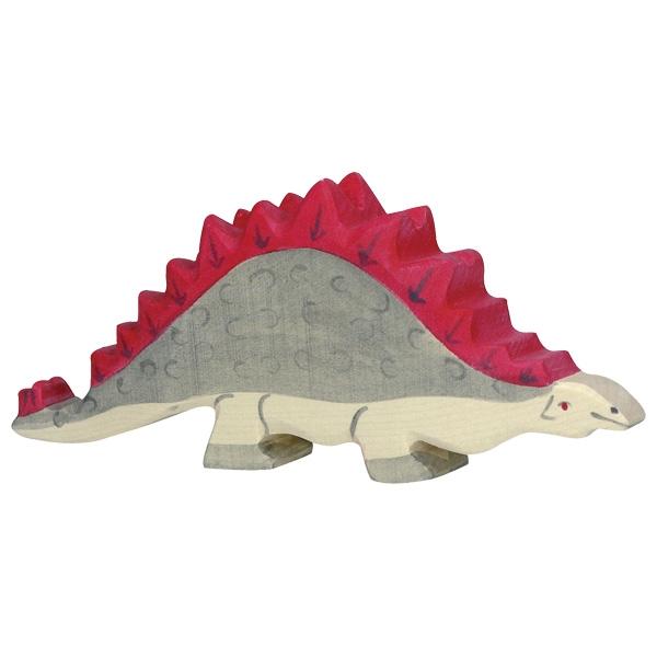 Figura legno Dinosauro Stegosauro - Holztiger