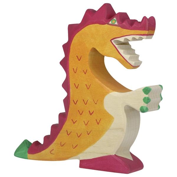 Figura legno Drago rosso - Holztiger