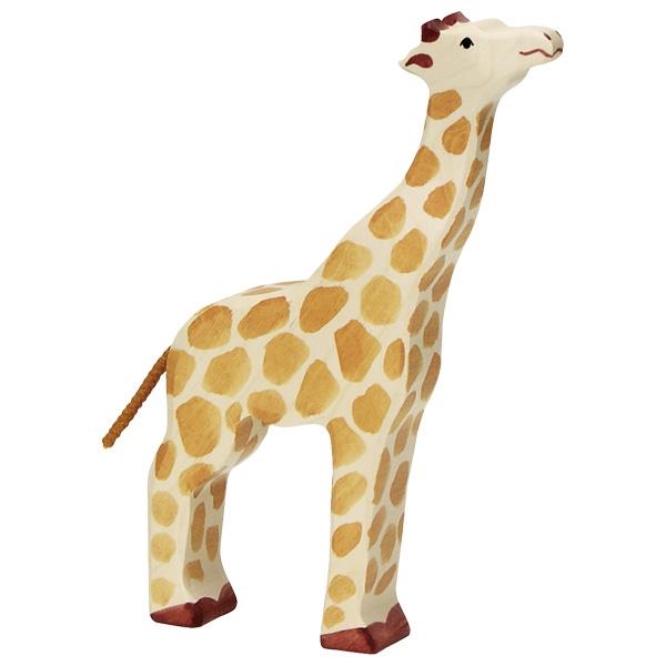 Figura legno Giraffa grande testa su - Holztiger