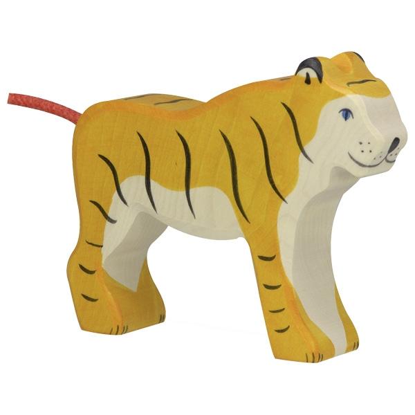 Figura legno Tigre in piedi - Holztiger
