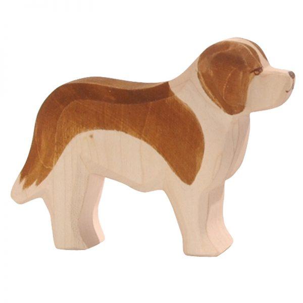 Figura legno cane S. Bernardo - Ostheimer