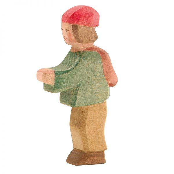 Figura legno pastorello bambino - Ostheimer