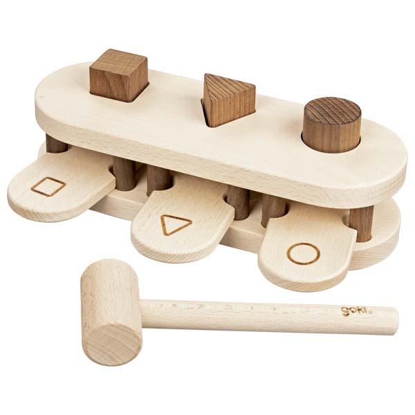 Gioco forme batti batti legno Goki