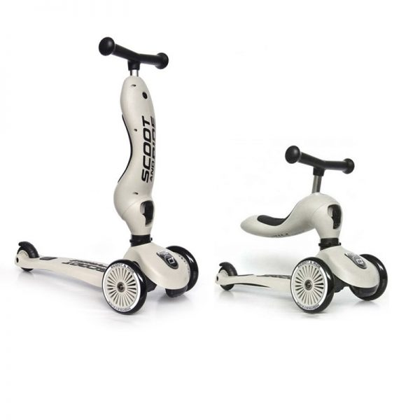 Monopattino e cavalcabile 2in1 Grigio Scoot and Ride