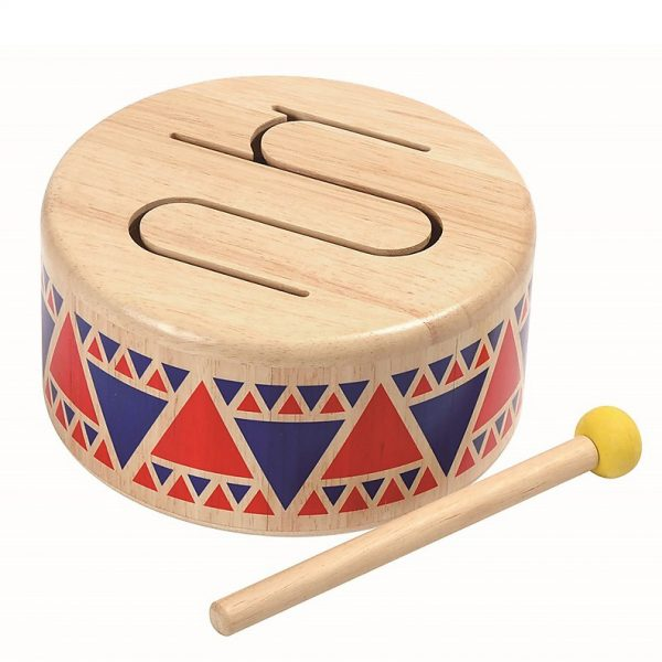 Tamburo legno solid drum Plan Toys