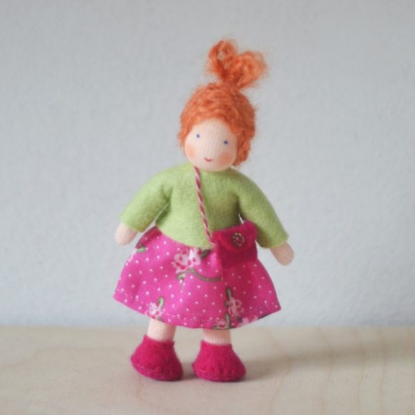 Dollhouse Family Bambina gonna fucsia Ambro-dolls