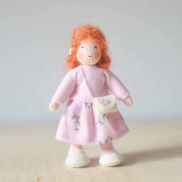 Dollhouse Family Bambina gonna rosa Ambro-dolls