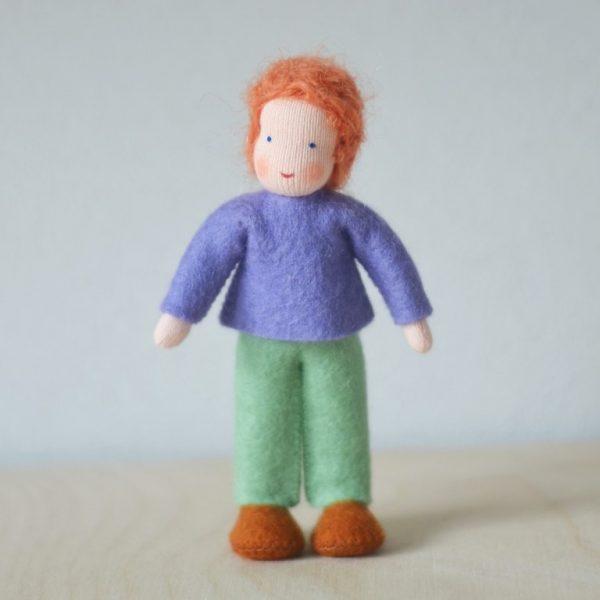 Dollhouse Family Bambino maglia viola Ambro-dolls
