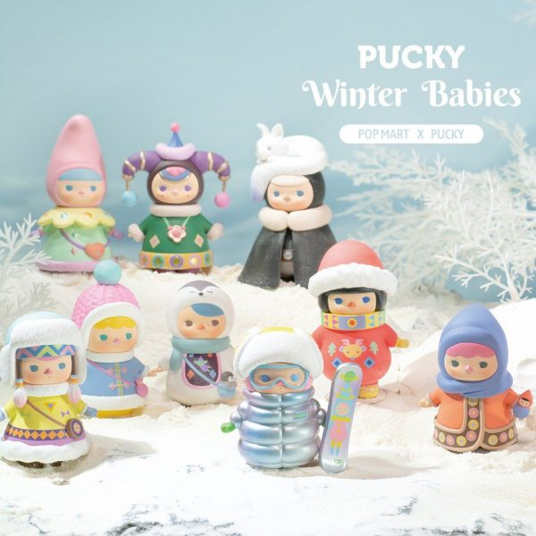 Figura in vinile Pucky Winter Babies - blind box Pop Mart