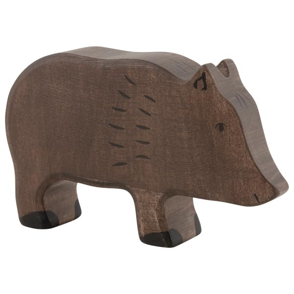 Figura legno Cinghiale femmina - Holztiger