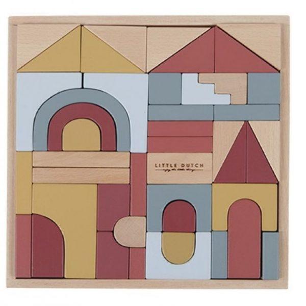 Wooden building blocks Pure & Nature Little Dutch