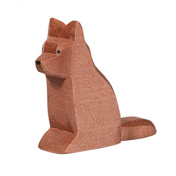 Figura legno cane pastore seduto - Ostheimer