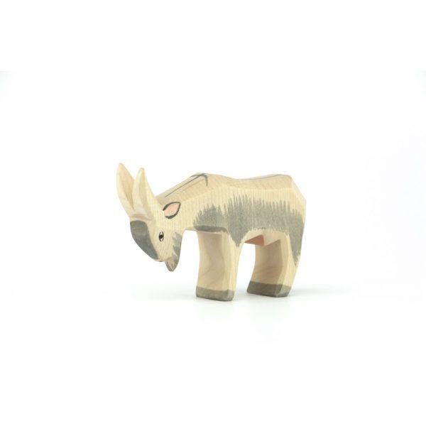 Figura legno capra testa bassa - Ostheimer