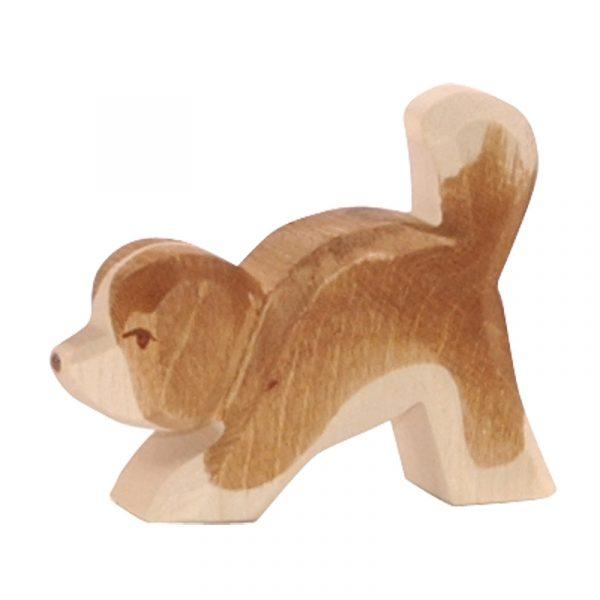Figura legno cucciolo cane S. Bernardo testa giù - Ostheimer