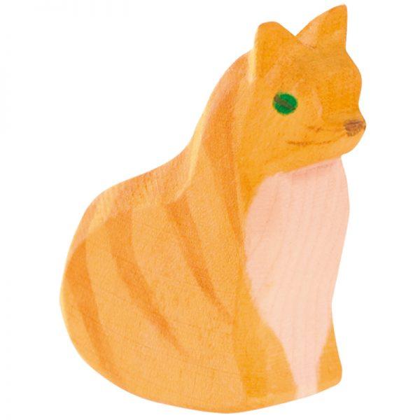 Figura legno gatto seduto che dondola - Ostheimer
