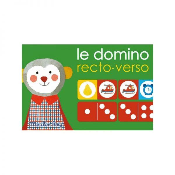Gioco domino reversibile Popipop Moulin Roty