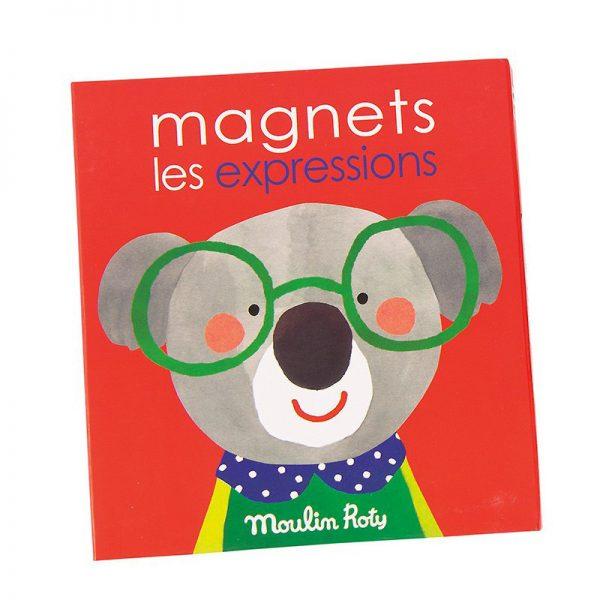 Gioco educativo magnetico Le espressioni Popipop Moulin Roty