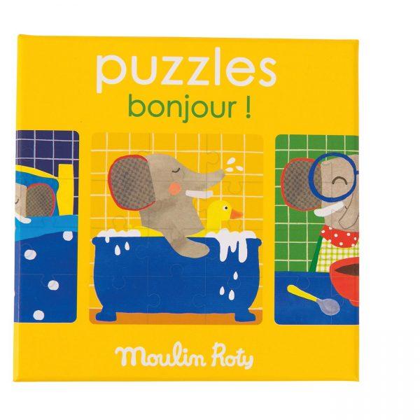 Set 3 puzzle Buongiorno Popipop Moulin Roty