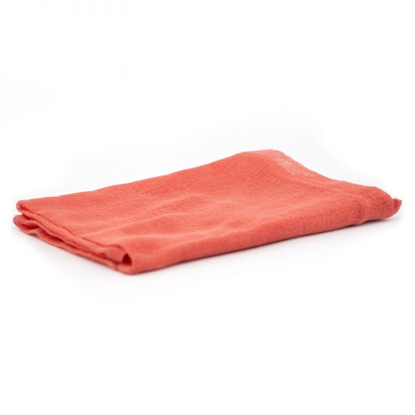 Telo gioco garza di cotone 90 x 90 cm corallo - Ostheimer