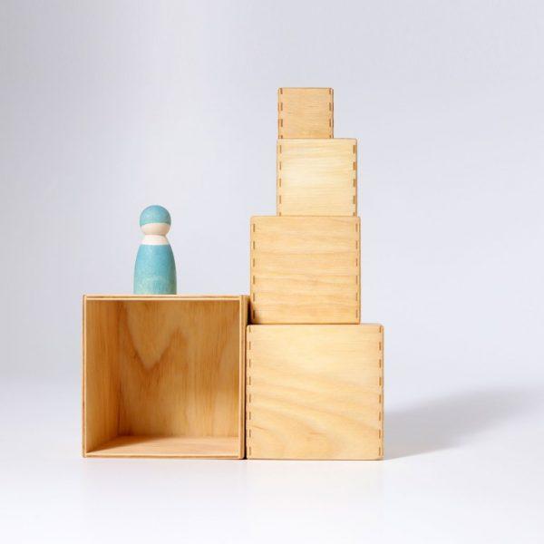 Cubi impilabili Boxes Natural Grimm's
