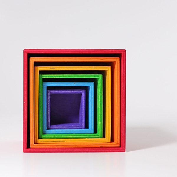Cubi impilabili Large rainbow set Grimm's