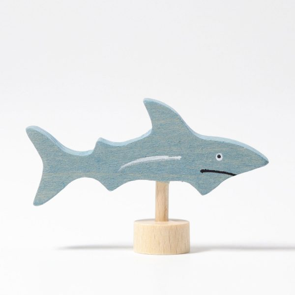 Figura decorativa legno squalo Grimm's