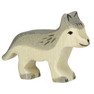 Figura legno lupetto - Holztiger