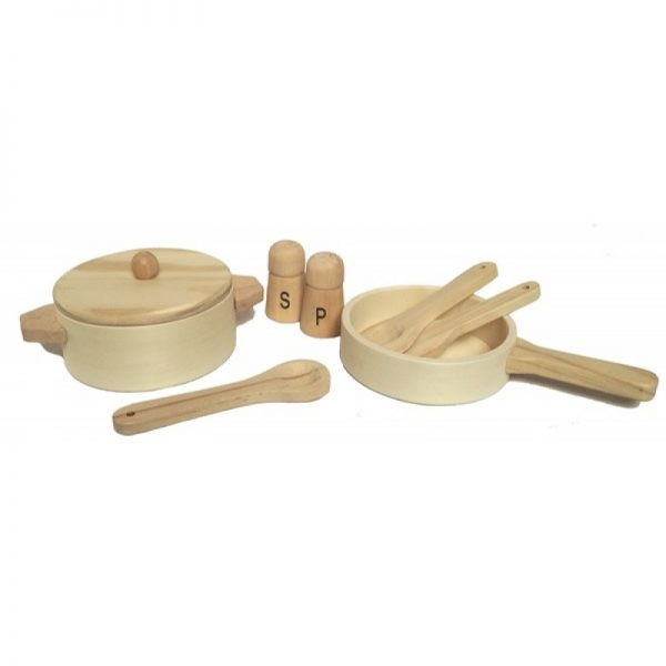 Set gioco pentole in legno Egmont Toys