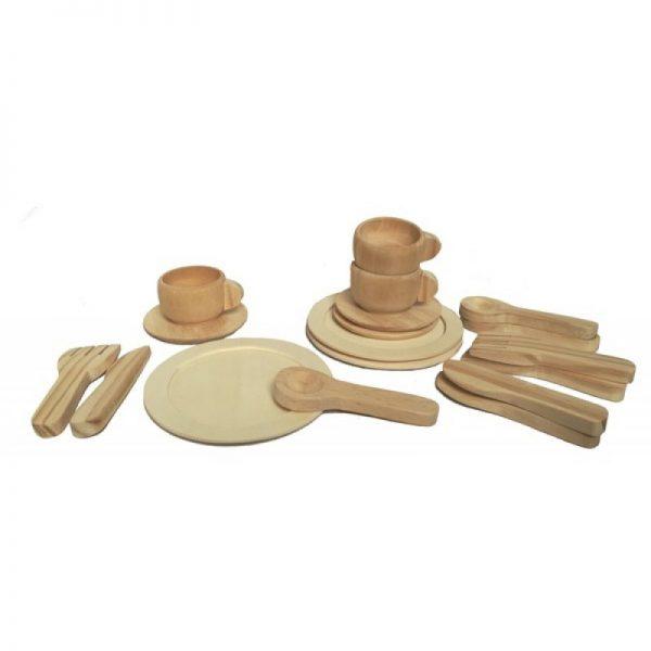 Set gioco stoviglie in legno Egmont Toys