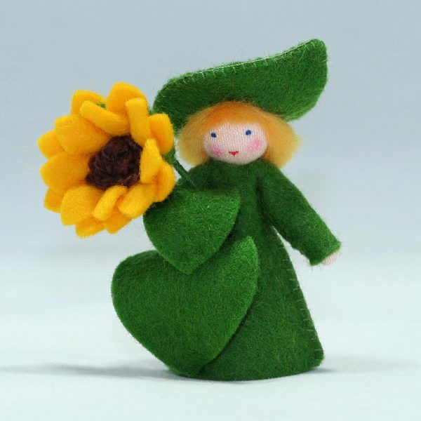 Figura Waldorf Fata Sunflower Boy Ambro-dolls