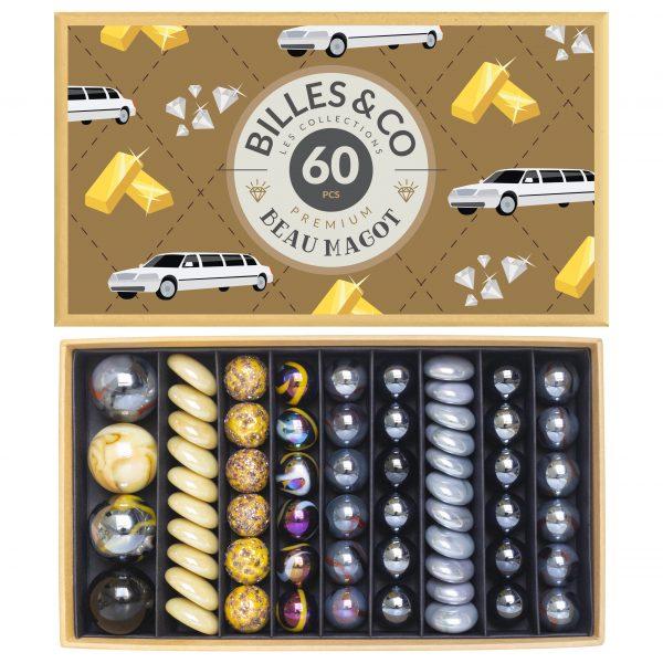Scatola grande biglie vintage Luxe Beau Magot Billes & co