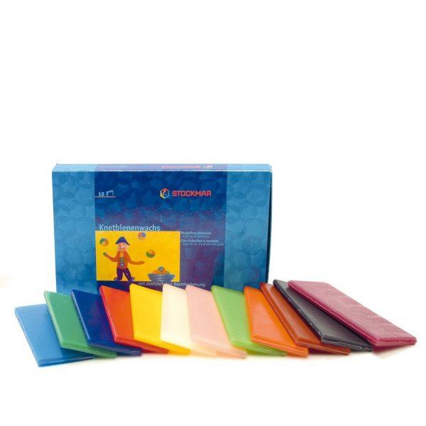 Set 12 fogli cera da modellare scatola Stockmar