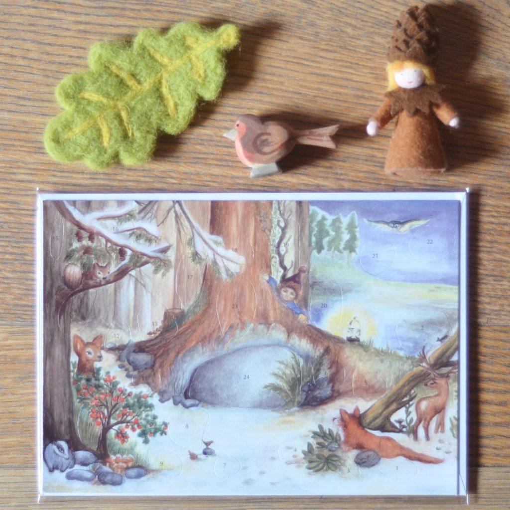 Cartolina Calendario dell'avvento Waldorf 15x21 cm