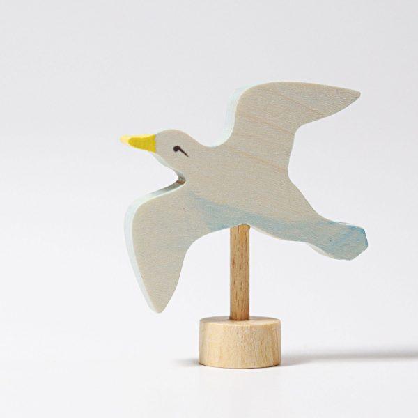 Figura decorativa legno gabbiano Grimm's