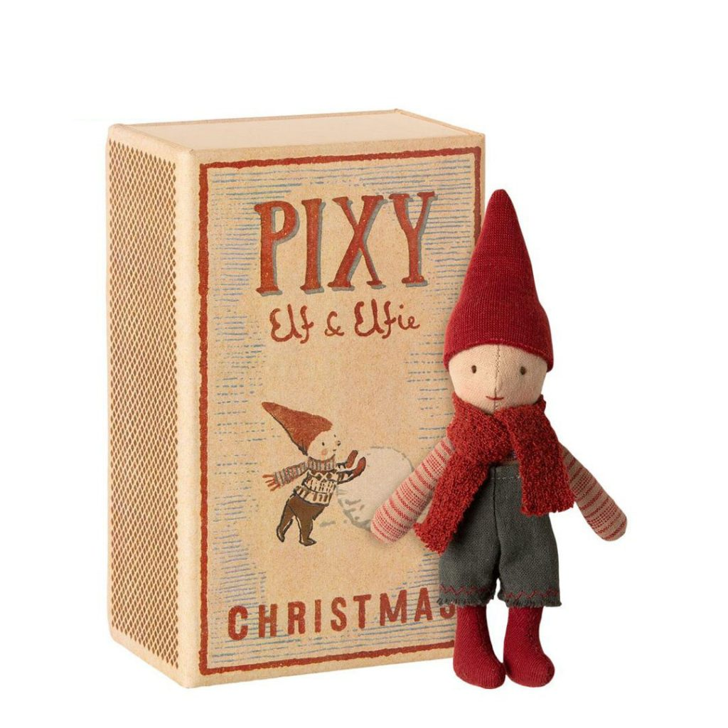 Pupazzo folletto Pixi Elf in box 14 cm Maileg
