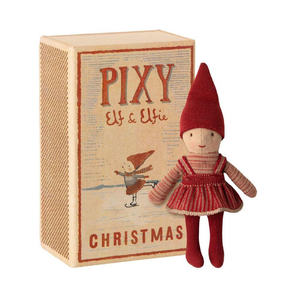 Pupazzo folletto Pixi Elfie in box 14 cm Maileg