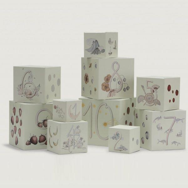 10 Cubi impilabili di cartone - Konges sløjd