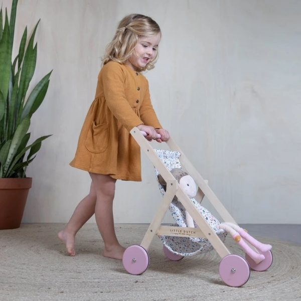 Passeggino di legno bambole Little Dutch