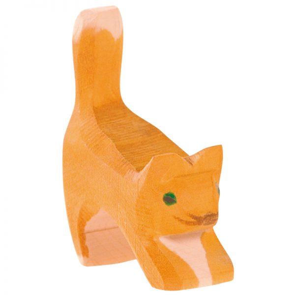 Figura legno gatto che si stira - Ostheimer