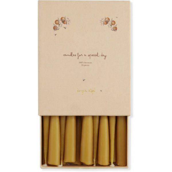 Set 20 candele cera d'api parata compleanno Konges sløjd