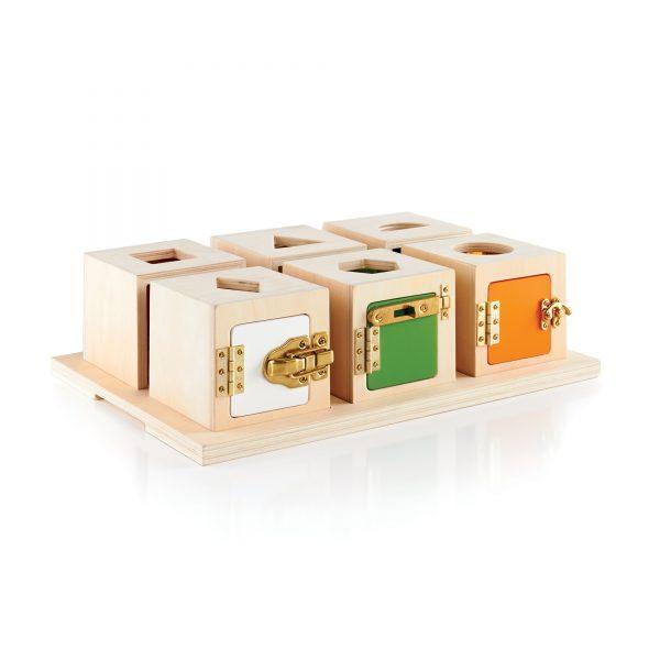 Set serrature e forme Peekaboo Lock Boxes Guide Craft