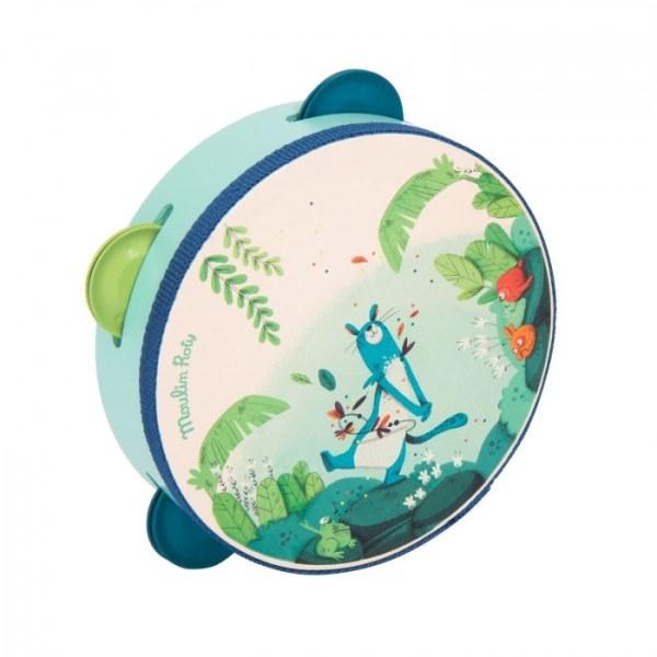 Tamburello blu Dans la Jungle Moulin Roty