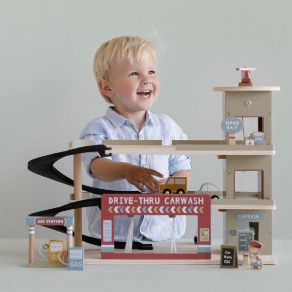 Garage con macchinine railway Little Dutch