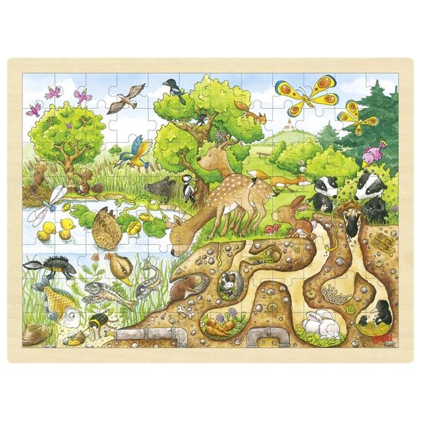 Puzzle legno esploriamo la natura Goki