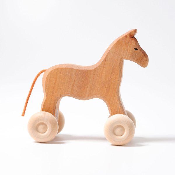 Cavallo di legno su ruote Grimm's