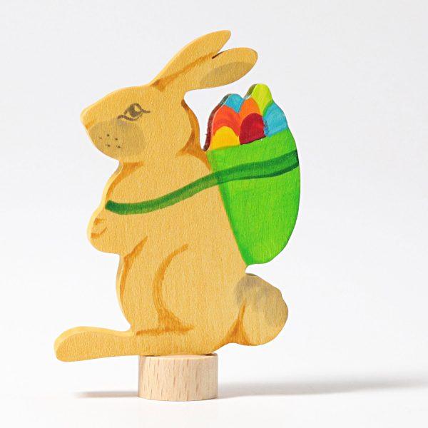 Figura decorativa legno coniglio pasquale Grimm's